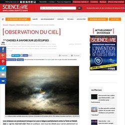 Science et vie : les éclipses