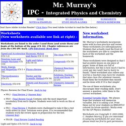 Mr. Murray's Science Website: IPC Worksheets