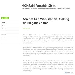 Science Lab Workstation: Making an Elegant Choice – MONSAM Portable Sinks