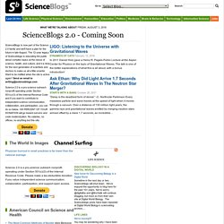 ScienceBlogs - Where the world turns to talk about science.