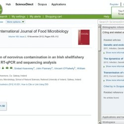 International Journal of Food Microbiology Volume 160, Issue 2, 15 November 2012, Characterisation of norovirus contamination in