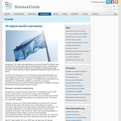 ScienceGuide: 70 miljard van EU voor kennis