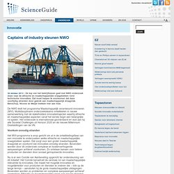 ScienceGuide: corporatization of ethics? Captains of industry steunen NWO