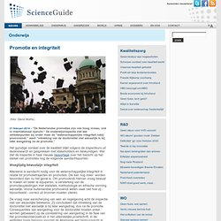 ScienceGuide: promotie en integriteit