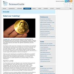 scienceguide: Nobel voor 'matching'