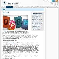scienceguide: Open Wat?