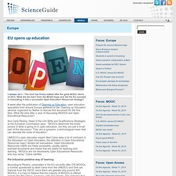 ScienceGuide: EU opens up education