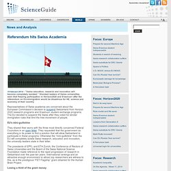 ScienceGuide: Referendum hits Swiss Academia