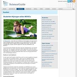 Studenten Nijmegen willen MOOCs