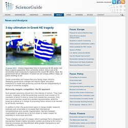 3 day ultimatum in Greek HE tragedy