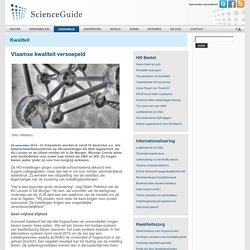 ScienceGuide - Vlaamse kwaliteit versoepeld