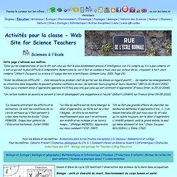 Sciences à l'école - Activités pour la classe