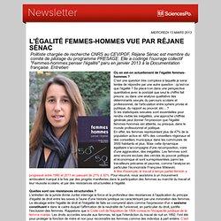 L'égalité femmes-hommes vue par Réjane Sénac