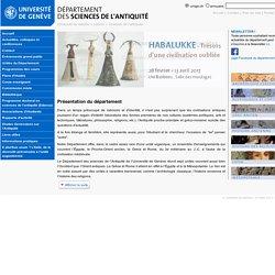 Sciences de l'antiquité - Département des sciences de l'Antiquité - UNIGE