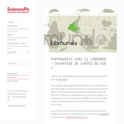 Sciences Po - Atelier de Cartographie -