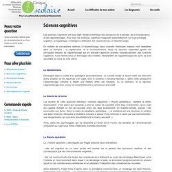 Sciences cognitives