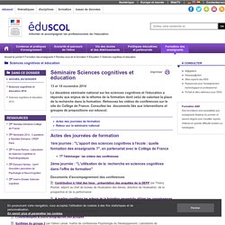 Sciences cognitives et éducation - Sciences cognitives et éducation 2014