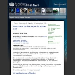 Sciences cognitives - Nancy-Université