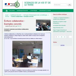 Écriture collaborative - Exemples concrets