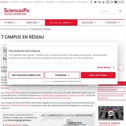 Les campus en région