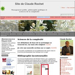 Sciences de la complexité - Site de Claude Rochet