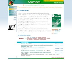 Sciences cycle 3 _ Guide du maître