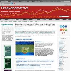 Bar des Sciences: Débat sur le Big Data
