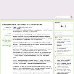 [French] Sciences et avenir ; les différences hommes/femmes