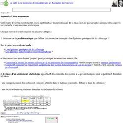 Le site des Sciences Economiques et Sociales de Créteil
