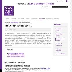 Liens utiles pour la classe — Sciences économiques et sociales