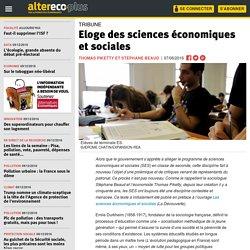 Eloge des sciences économiques et sociales