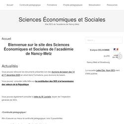 Sciences Economiques et Sociales académie de Nancy-Metz