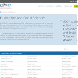 Social Sciences Paper Editing, Humanities and Social Sciences