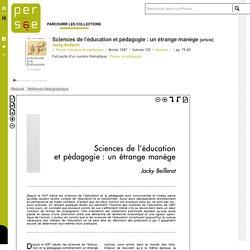 Sciences de l'éducation et pédagogie : un étrange manège