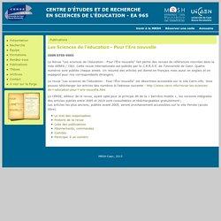 SITE CERSE Univ. Caen : Revue Les Sciences de l'éducation - Pour l'Ere nouvelle