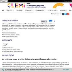 Sciences et médias- CLEMI