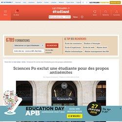Sciences Po exclut une étudiante pour des propos antisémites