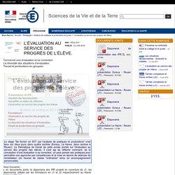 Sciences de la Vie et de la Terre - L'évaluation au service des progrès de l'élève.