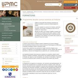 Double cursus sciences et histoire -Université Pierre et Marie CURIE