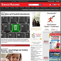 Dossiers web Sociologie, grands dossiers Sociologie, sommaire dossier mensuel Sciences Humaines