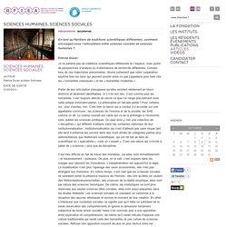Sciences humaines, sciences sociales