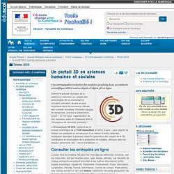 Un portail 3D en sciences humaines et sociales