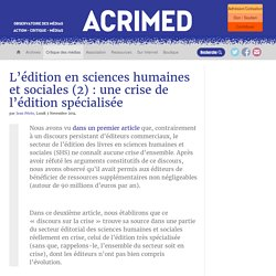 L'édition en sciences humaines et sociales (2) : une crise de l'édition spécialisée