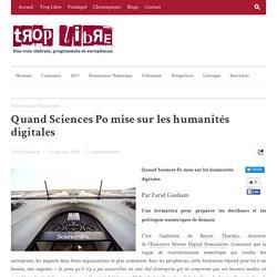 Quand Sciences Po mise sur les humanités digitales