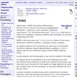WIMS - Sciences: Maths - Logiciels Libres