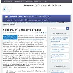 Sciences de la vie et de la Terre - Netboard, une alternative à Padlet.