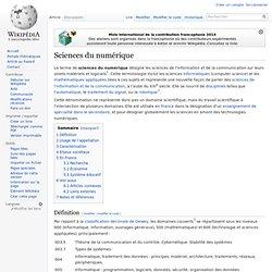 Sciences du numérique