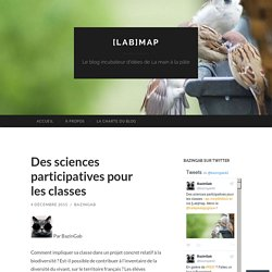 Des sciences participatives pour les classes