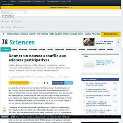 Donner un nouveau souffle aux sciences participatives