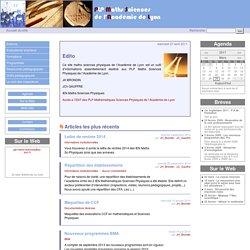 Accueil du site - Maths Sciences Physiques de l'Académie de Lyon
